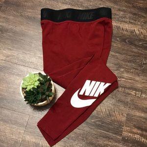 Nike Burgundy Leggings! Like New! Small!
